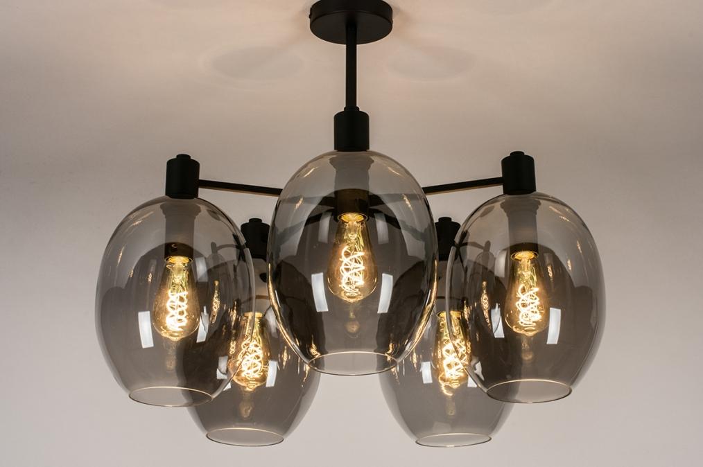 Plafondlamp 73952: modern, retro, eigentijds klassiek, art deco #0
