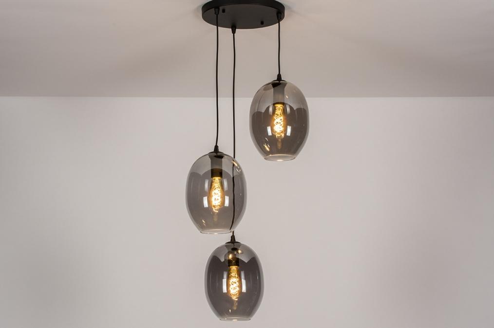 Hanglamp 73954: modern, retro, eigentijds klassiek, glas #0
