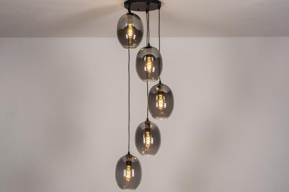 Hanglamp 73955: modern, retro, eigentijds klassiek, glas #0