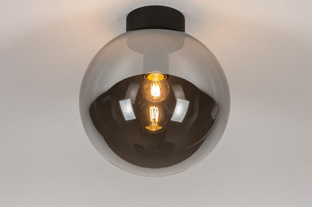 Plafondlamp 73956: modern, retro, eigentijds klassiek, glas #0