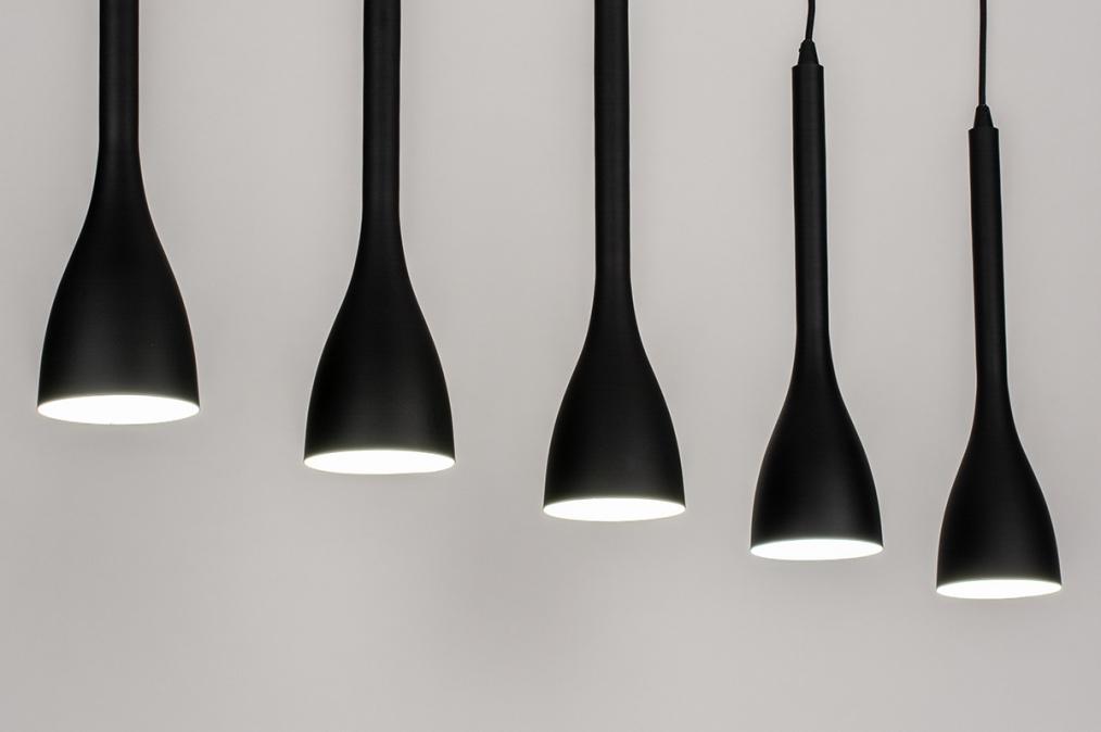Hanglamp 73961: modern, retro, metaal, zwart #0