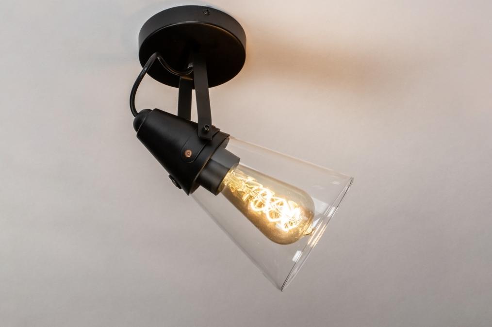 Wandlamp 73974: modern, glas, helder glas, metaal #0