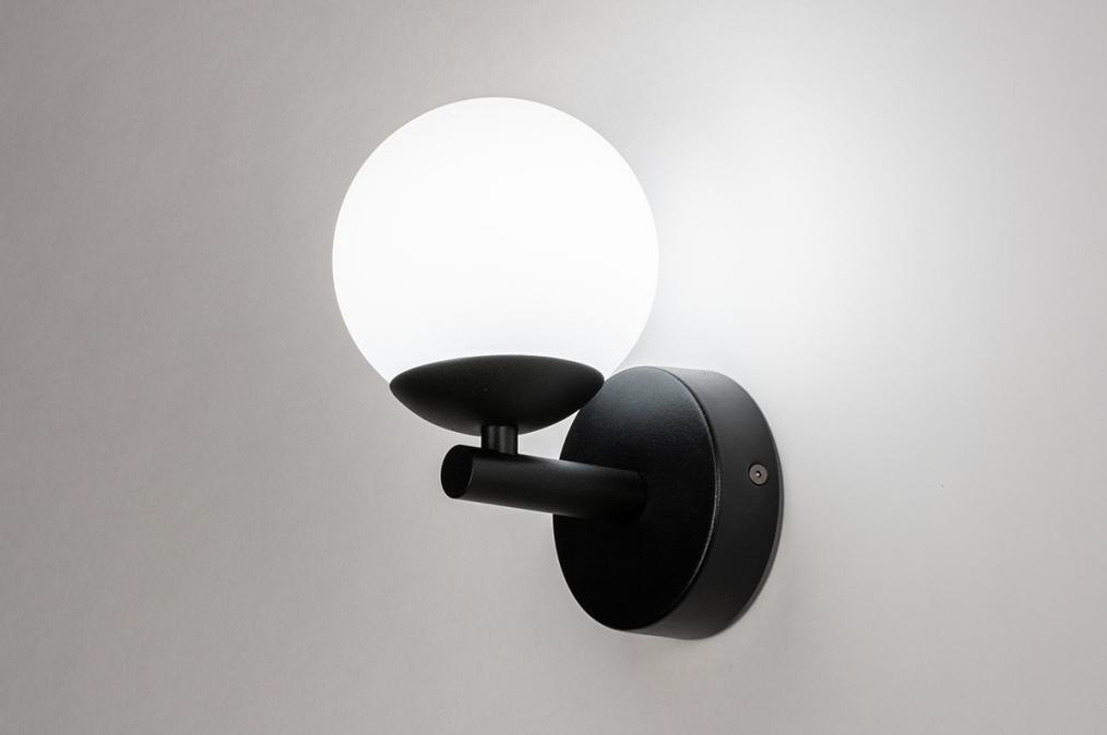 Wandlamp 73989: modern, retro, eigentijds klassiek, glas #0