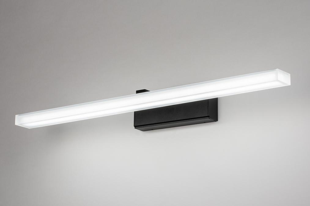 Wandlamp 73994: modern, kunststof, acrylaat kunststofglas, zwart #0
