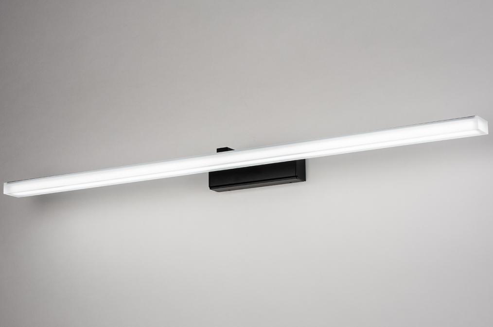 Wandlamp 73995: modern, kunststof, acrylaat kunststofglas, zwart #0