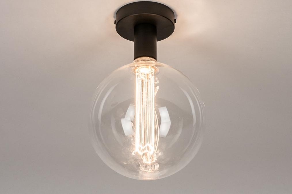 Plafondlamp 74007: industrie, look, modern, metaal #0
