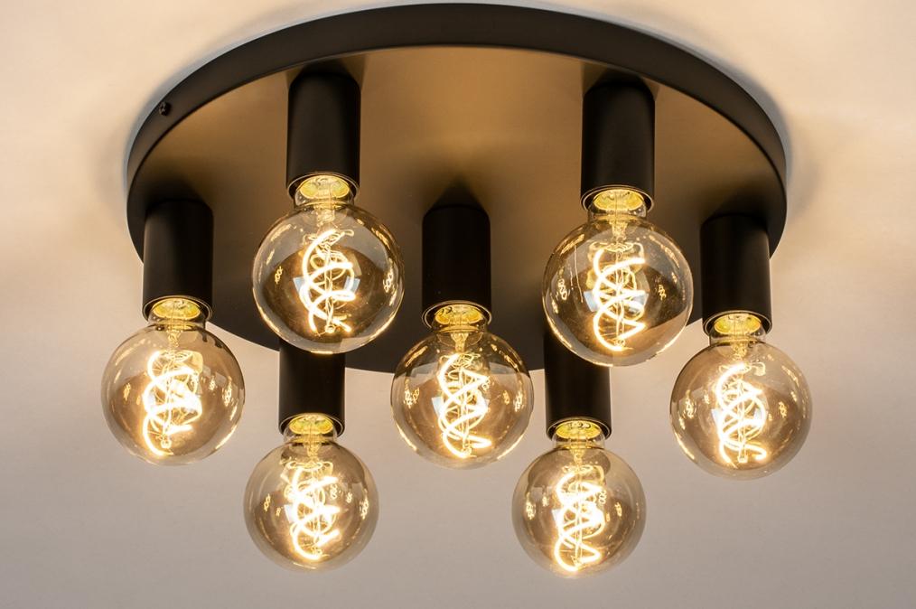 Plafondlamp 74010: industrie, look, modern, metaal #0