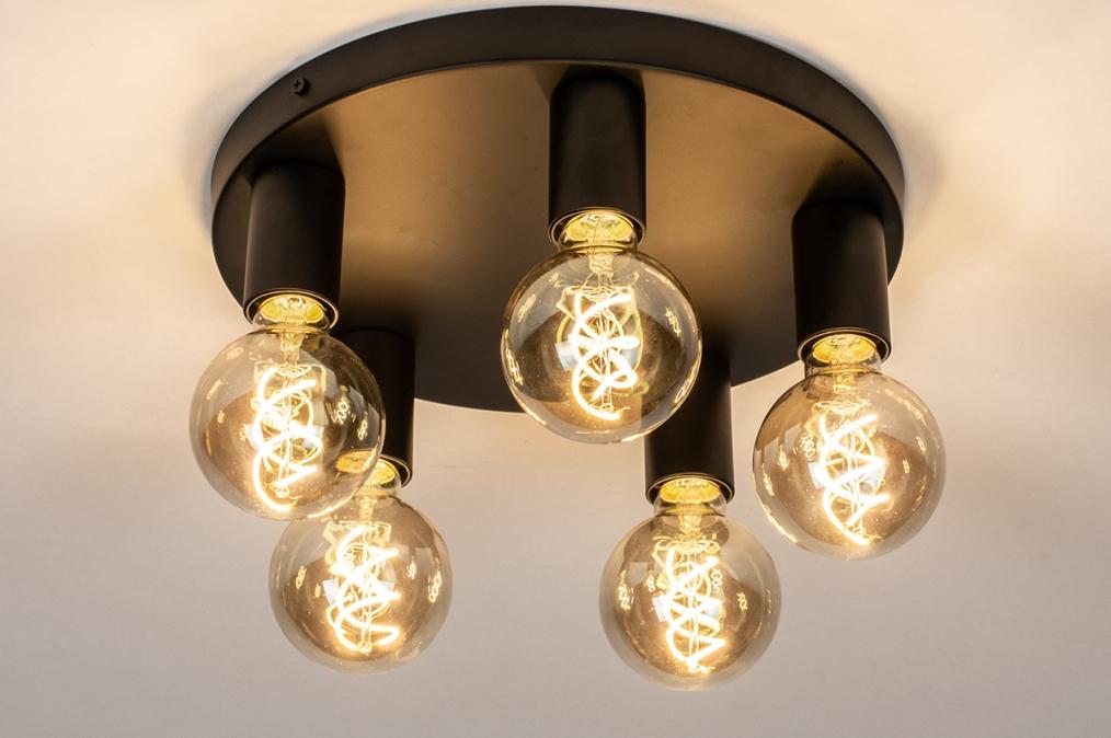 Plafondlamp 74011: industrie, look, modern, metaal #0