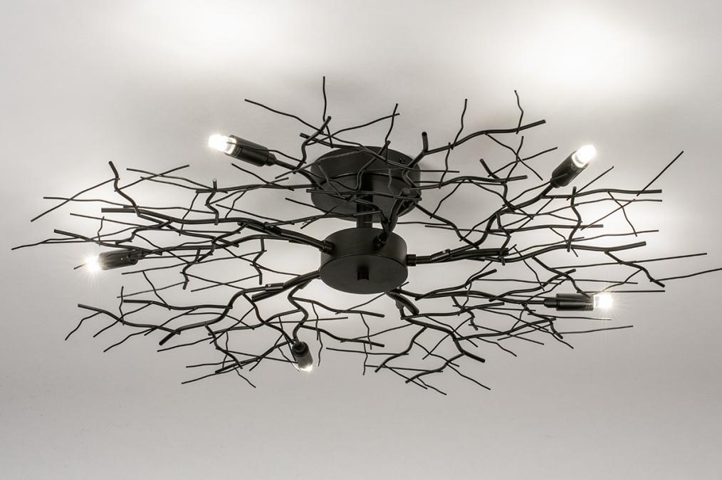 Plafondlamp 74013: landelijk, rustiek, modern, eigentijds klassiek #0
