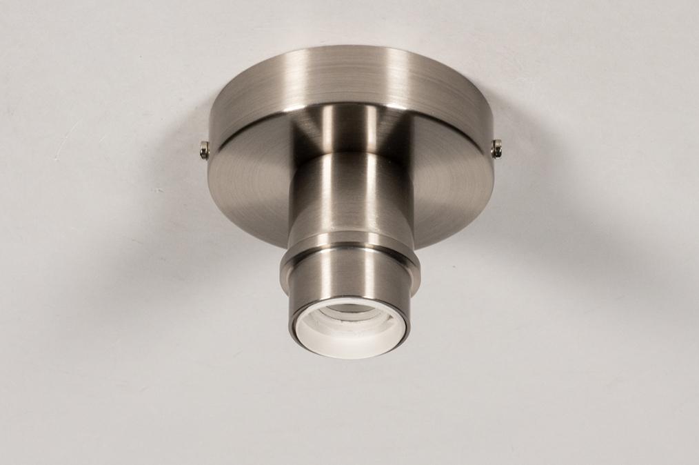 Plafondlamp 74015: modern, staal rvs, metaal, nikkel #0