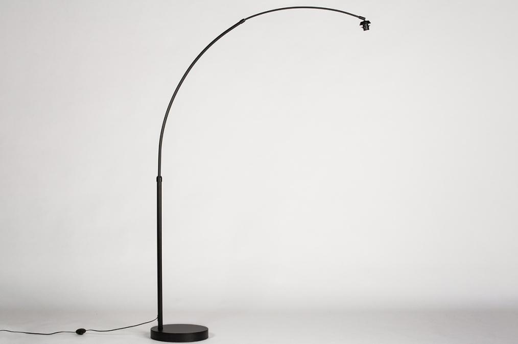 Vloerlamp 74018: modern, metaal, zwart, mat #0