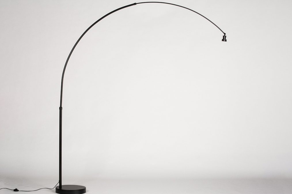 Vloerlamp 74019: modern, metaal, zwart, mat #0