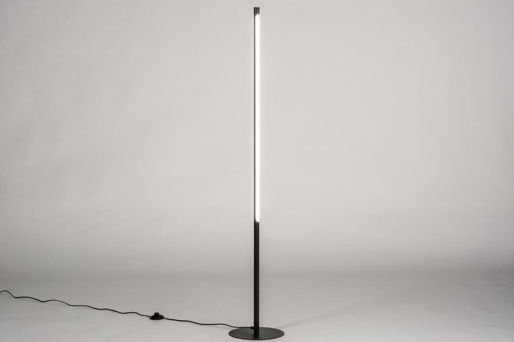 Vloerlamp 74024: design, modern, staal rvs, metaal #0