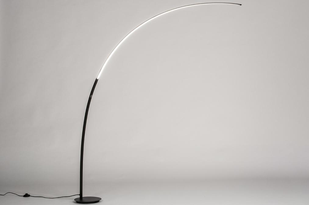 Vloerlamp 74025: modern, metaal, zwart, mat #0