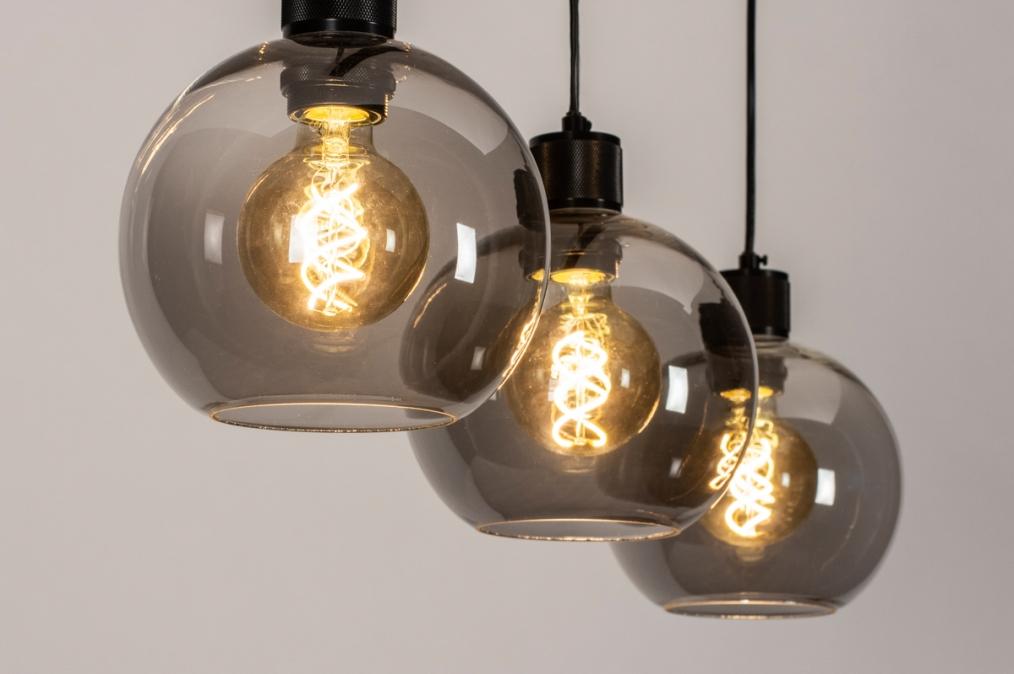Hanglamp 74037: modern, retro, glas, metaal #0