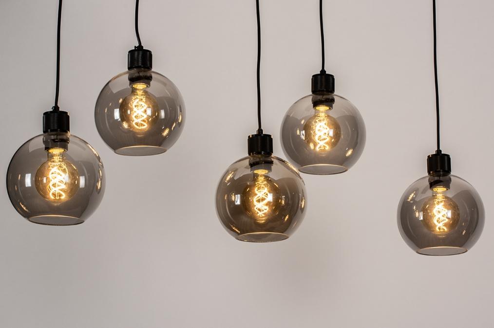 Hanglamp 74038: modern, retro, glas, metaal #0