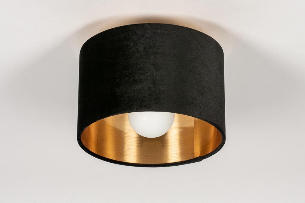 Onderdeel 74058: stof, zwart, goud, rond #0