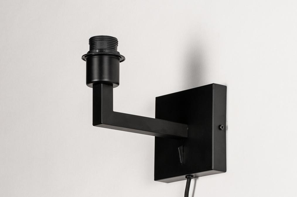 Onderdeel 74059: modern, metaal, zwart, mat #0