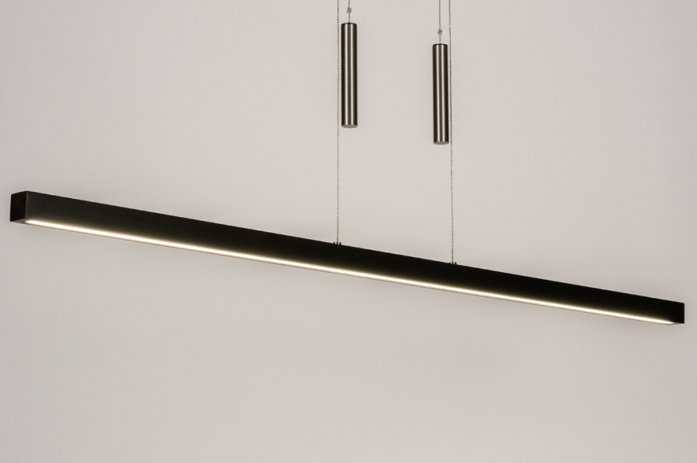 Hanglamp 74068: design, modern, hout, donker hout #0