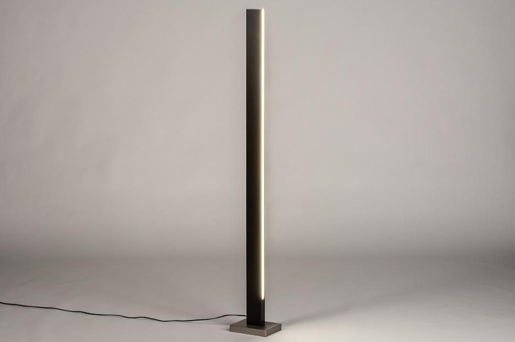 Vloerlamp 74069: design, modern, hout, donker hout #0