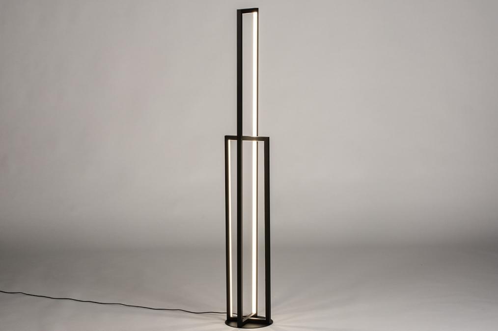 Vloerlamp 74070: design, modern, kunststof, metaal #0