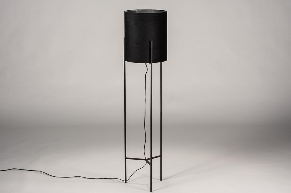 Vloerlamp 74078: landelijk, rustiek, eigentijds klassiek, stof #0