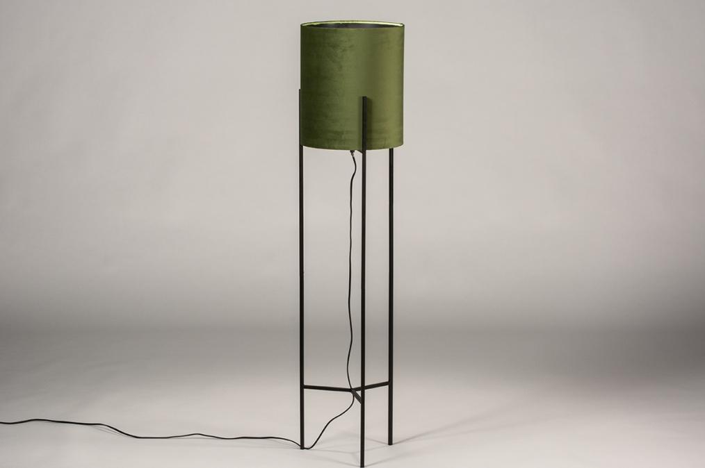 Vloerlamp 74079: landelijk, rustiek, eigentijds klassiek, stof #0