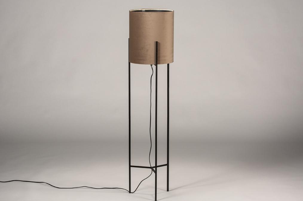 Vloerlamp 74080: landelijk, rustiek, eigentijds klassiek, stof #0