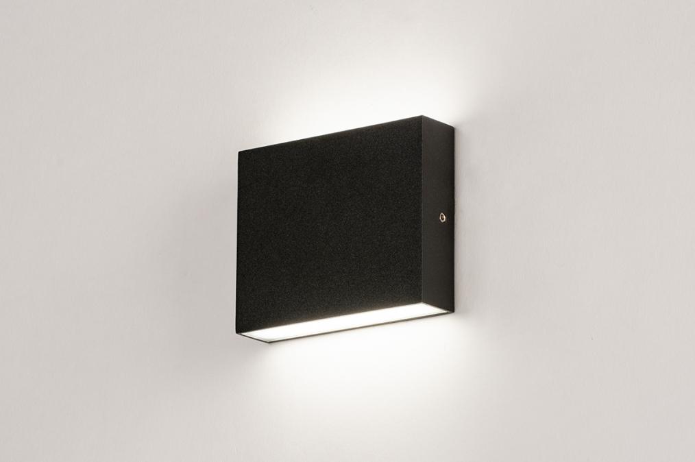 Wandlamp 74097: modern, aluminium, metaal, zwart #0