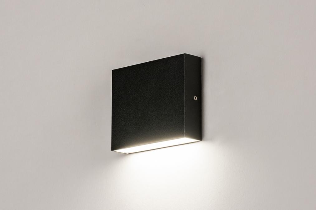 Buitenlamp 74098: modern, aluminium, metaal, zwart #0