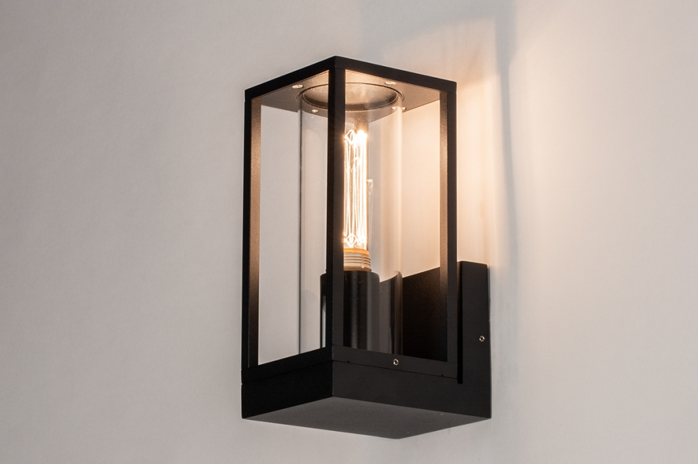 Wandlamp 74100: landelijk rustiek, modern, eigentijds klassiek, glas #0