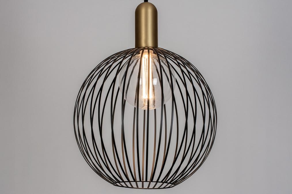 Hanglamp 74112: modern, eigentijds klassiek, art deco, metaal #0