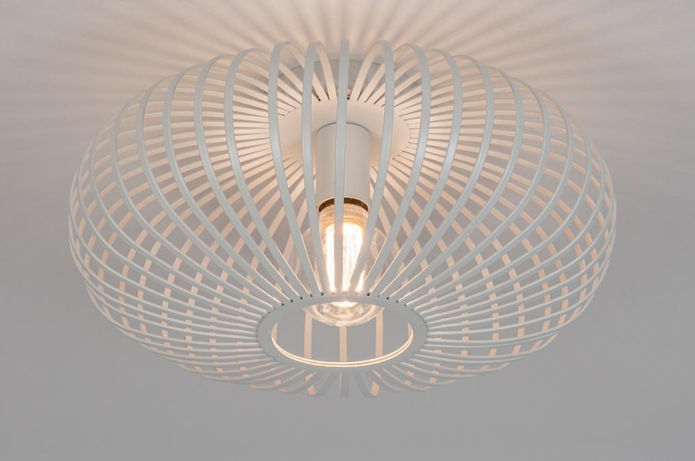 Plafondlamp 74117: modern, retro, metaal, wit #0