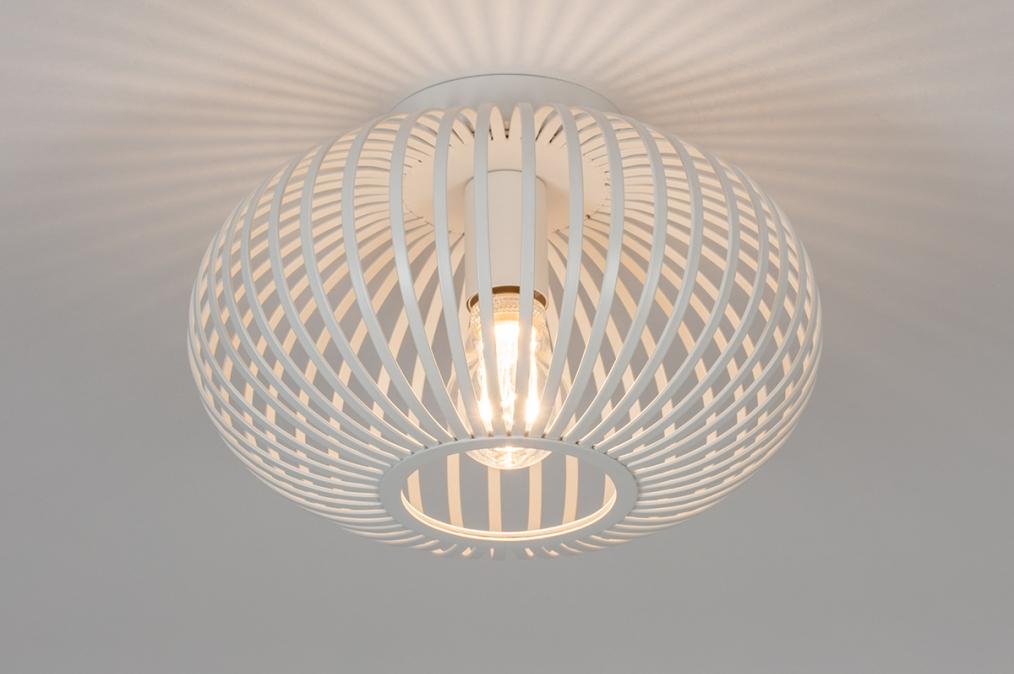 Plafondlamp 74118: modern, retro, metaal, wit #0