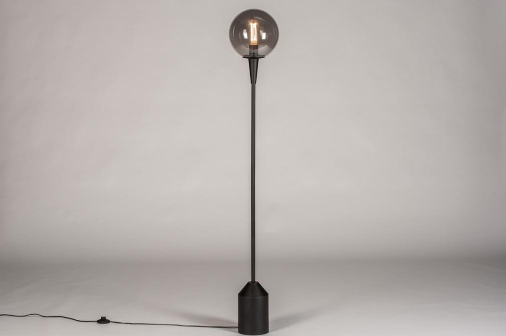 Vloerlamp 74126: landelijk, rustiek, modern, glas #0