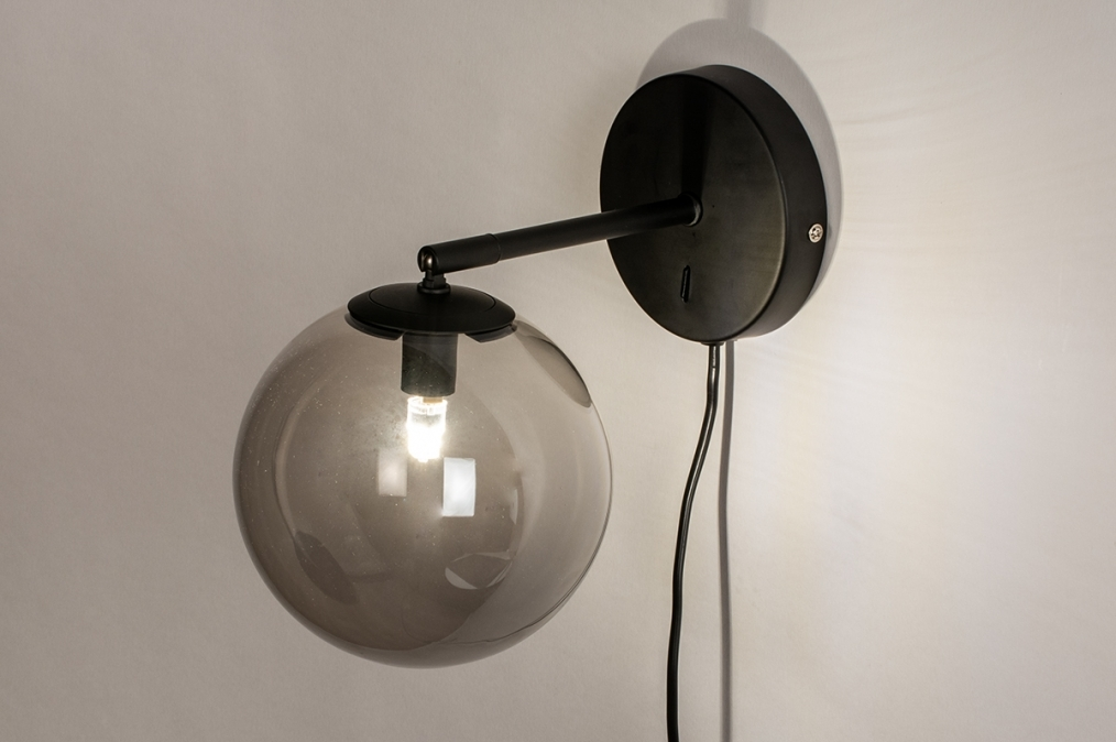 Wandlamp 74129: modern, retro, eigentijds klassiek, glas #0