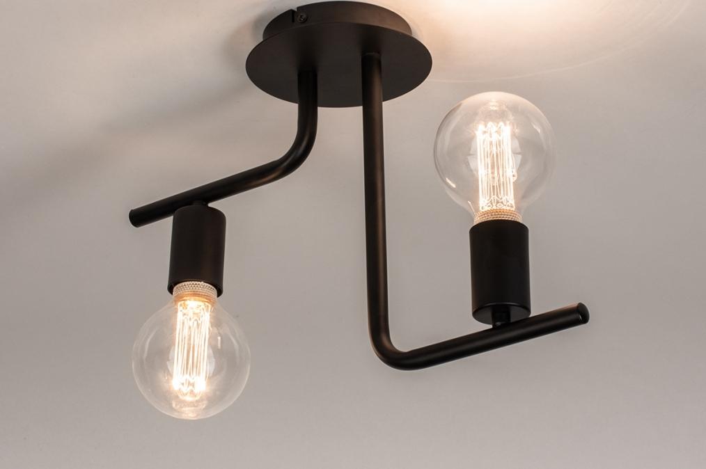 Plafondlamp 74155: modern, stoer, raw, metaal #0