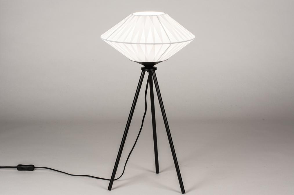 Tafellamp 74158: landelijk, rustiek, modern, eigentijds klassiek #0
