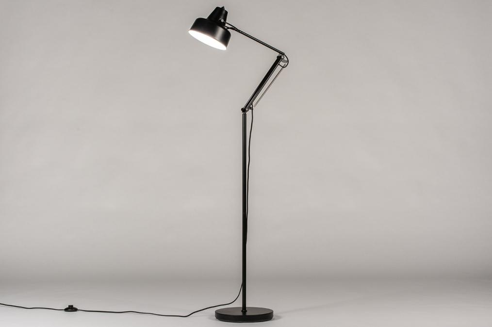 Vloerlamp 74169: retro, eigentijds klassiek, art deco, metaal #0
