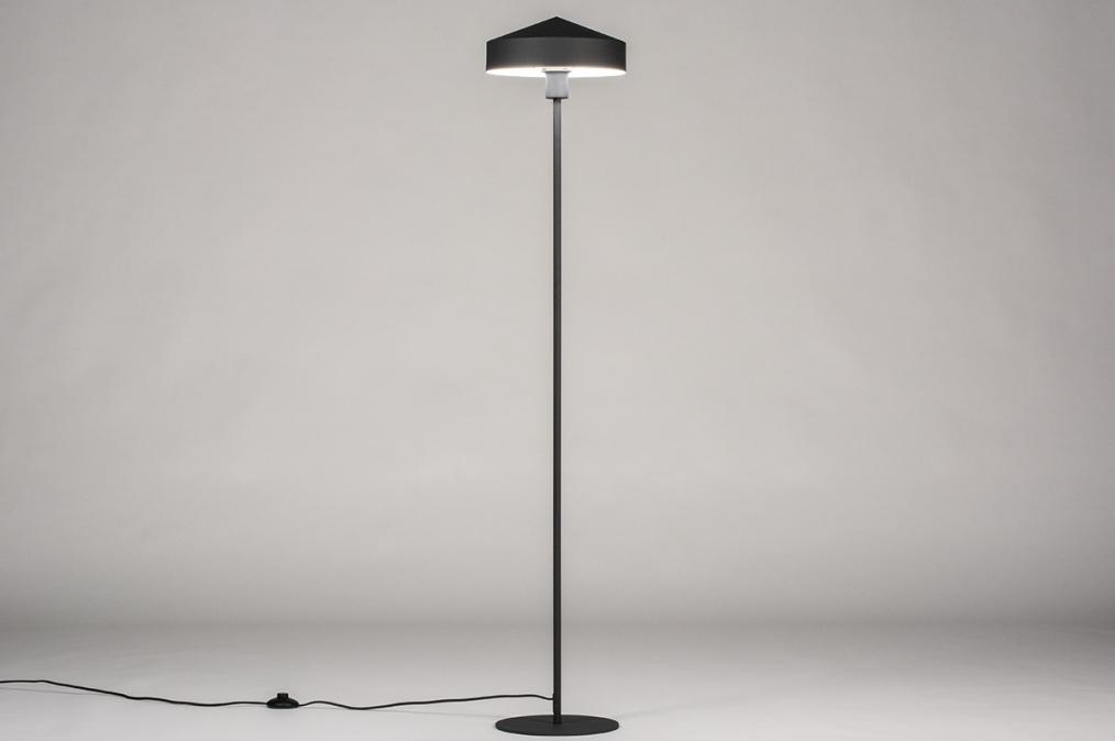Vloerlamp 74189: modern, metaal, zwart, mat #0