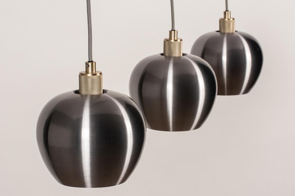 Hanglamp 74205: modern, aluminium, metaal, goud #0