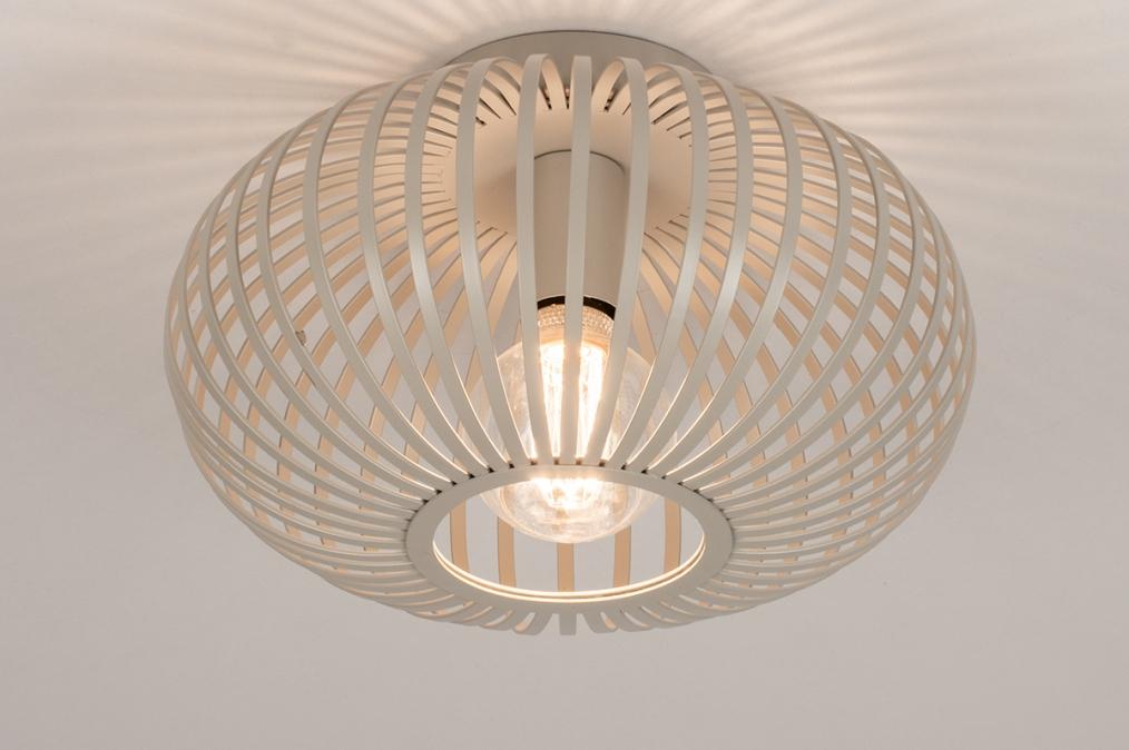 Plafondlamp 74223: modern, retro, metaal, beige #0