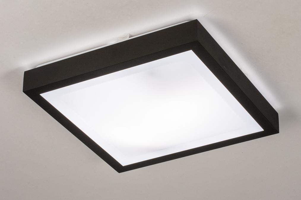 Plafondlamp 74226: modern, aluminium, kunststof, zwart #0