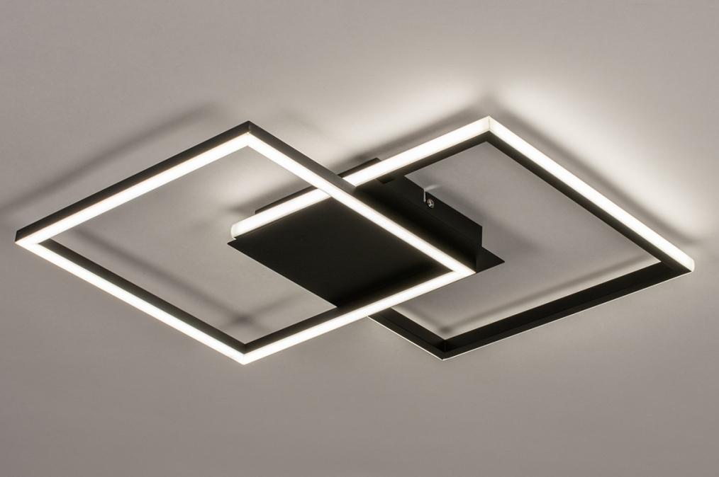 Plafondlamp 74227: design, modern, kunststof, metaal #0