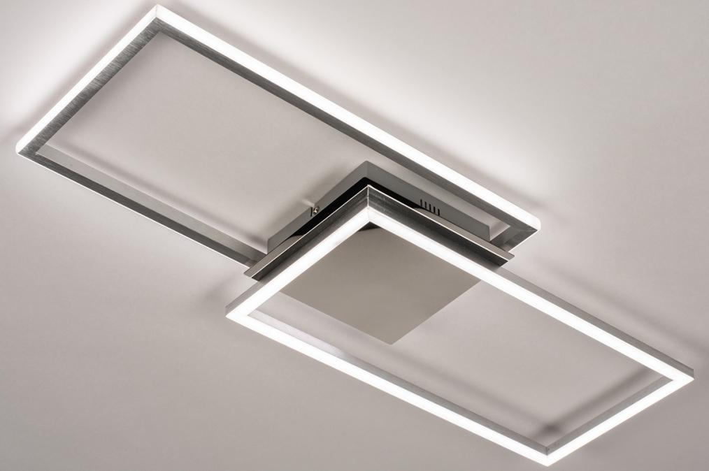 Plafondlamp 74232: design, modern, aluminium, kunststof #0
