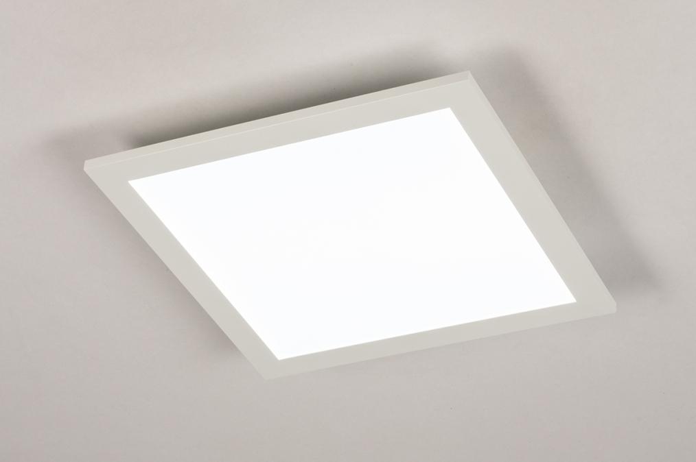 Plafondlamp 74233: modern, kunststof, metaal, wit #0