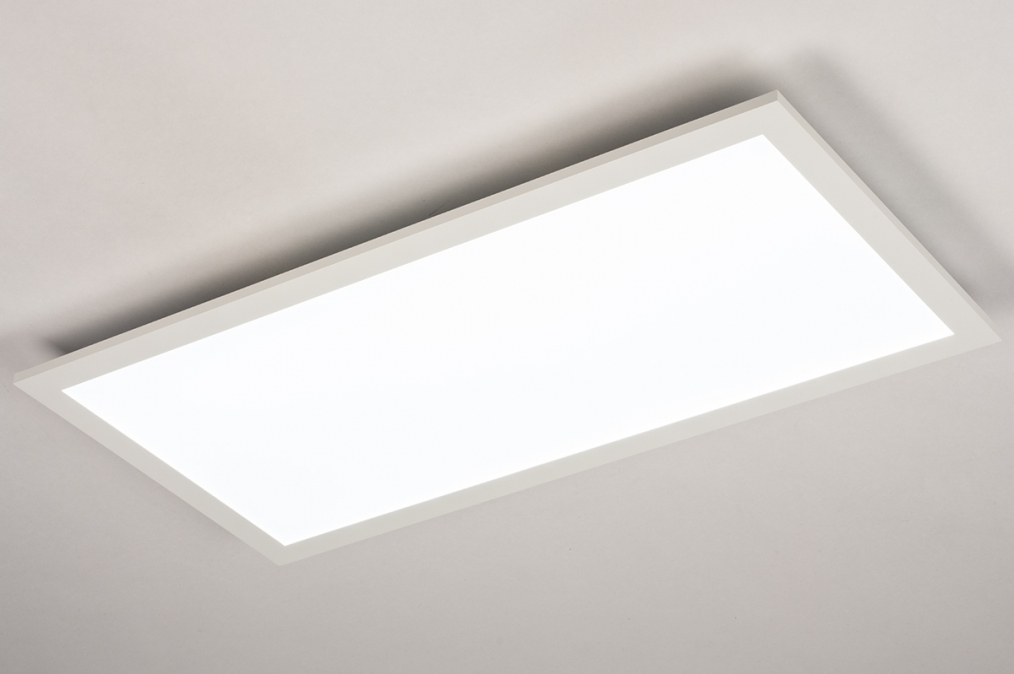 Plafondlamp 74235: modern, kunststof, metaal, wit #0