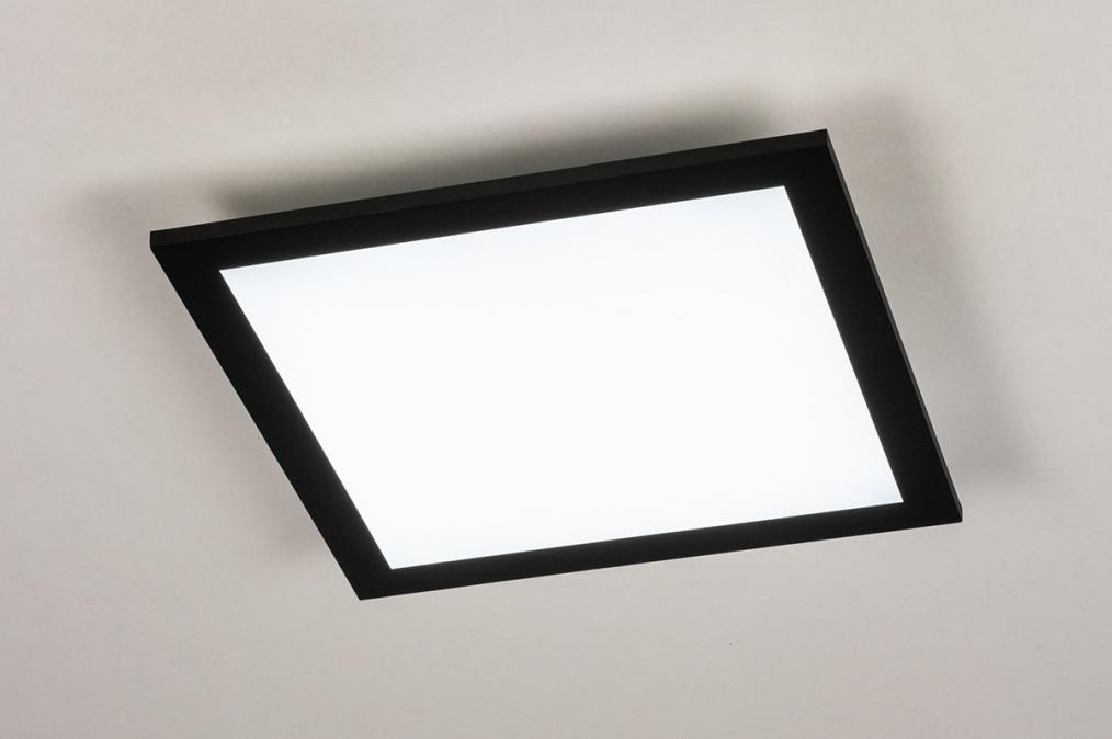 Plafondlamp 74236: modern, kunststof, metaal, zwart #0