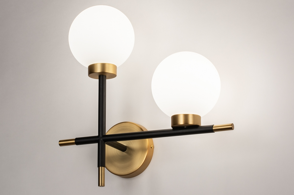 Wandlamp 74256: modern, eigentijds klassiek, art deco, glas #0
