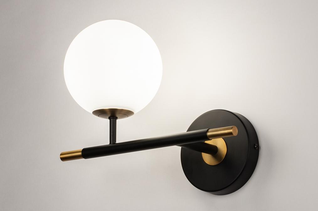Wandlamp 74257: modern, retro, eigentijds klassiek, glas #0